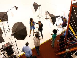 Modno snimanje za prilog CNN o Bocvani, u Image Lounge studiju. Gaborone, 2015.