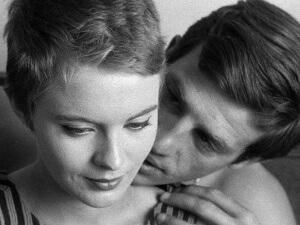 Jean Seberg and Jean-Paul Belmondo in Jean-Luc GodardÕs BREATHLESS (1960), this year celebrating its 50th anniversary. PHOTO CREDIT: Rialto Pictures/StudioCanal