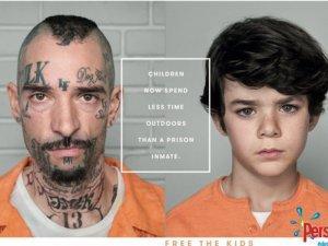 Deca provode manje vremena napolju od zatvorenika!