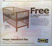 Ikea poklanja krevetac svakome ko dobije dete devet meseci nakon Dana zaljubljenih