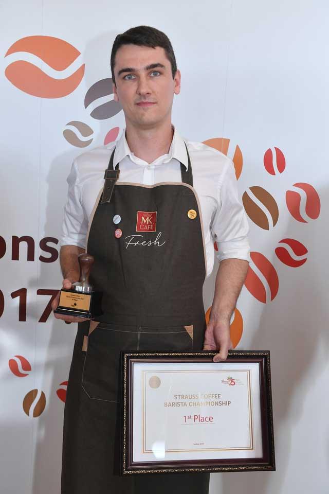 Pobednik-međunarodnog-Strauss-Coffee-takmičenja-barista-2017,-Kristof-Pičeta