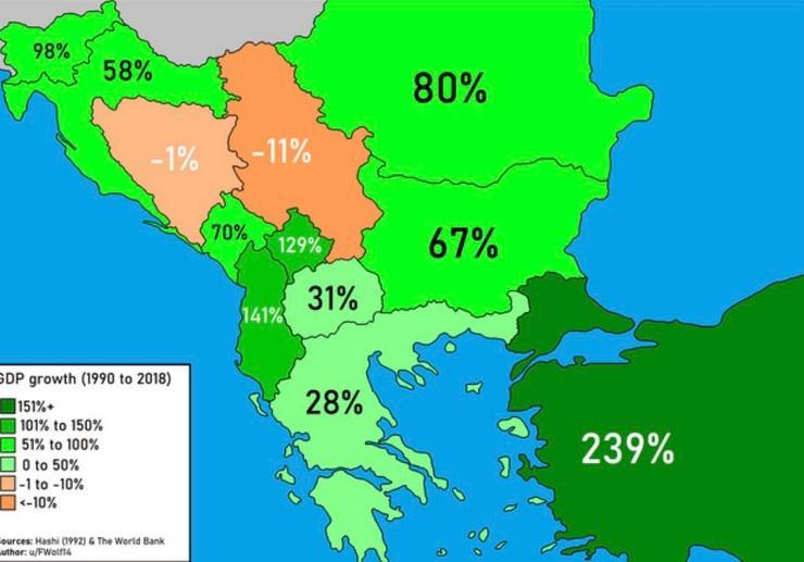 Mapa Koju Danas Svi Komentarisu Gde Je Srbija A Gde Ostatak