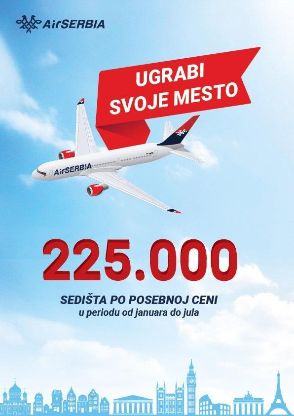 Velika Promotivna Akcija Er Srbije Povratne Karte Pocev Od 99